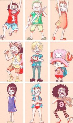 Monkey D Luffy Roronoa Zoro Sanji Vinsmoke Monster Trio Nami Usopp Tony Tony Chopper Nico Robin Franky Brook Straw Hat Crew Pirates Mugiwaras One Piece One Piece Manga, One Piece Fanart, Zoro Nami, Roronoa Zoro, Monkey D Luffy, Manga Anime, Chibi, Otaku, Es Der Clown