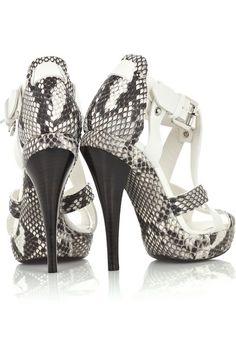 Michael Kors Python and Leather Sandals