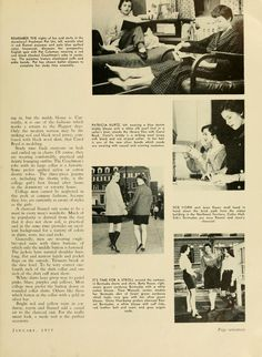 "The Ohio Alumnus, January 1955. ""Campus Fads and Fashions."" :: Ohio University Archives"