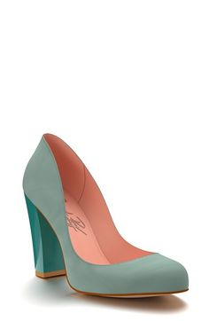 Shoes of Prey Block Heel Leather Pump (Women) available at  -- White version is GORGEOUS #Nordstrom