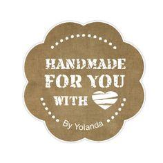 Etiquetas - Etiquetas impimibles personalizadas - hecho a mano por ByYolanda en DaWanda
