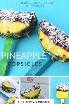 Perfect summer treat- chocolate dipped pineapple Popsicle