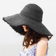 Ladies wide brim sun hat for women UV summer floppy straw hats