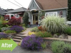 Another great before-and-after post -- from weedy lawn to bodacious garden. Before & After: An Incredible Makeover in Seattle, Washington —studio 'g' garden design and landscape inspiration and ideas Studio G, Garden...