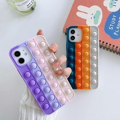 iphone silicone case pop it fidget toy – Cutever Silicone Iphone Cases, Fidget Toys, Graduation Images, Teen Girl Photography, Busy Board, Tablet, Cute Cases, Acrylic Nails, Girly