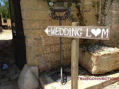 Rustic Wedding Signs Romantic Outdoor Weddings LARGE FONT Hand Painted Reclaimed Wood. Rustic Weddings. Vintage Weddings. Road Signs. on Etsy, $35.00
