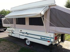 I have been thinking about doing a backside awning for a while, so I thought I would give it a try. I didn't want anything real complicated, or hard to. Popup Camper Remodel, Camper Renovation, Diy Camper, Camper Life, Truck Camper, Camper Ideas, Camper Remodeling, Trailer Tent, Pop Up Trailer