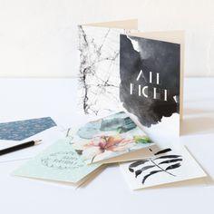 Elegant cards for birthdays and other special occasions. Price DKK 4,98 / SEK 6,98 / NOK 6,88 / EUR 0,72 / ISK 158 #cards #birthdaycards #specialcards #celebration #congratulations #congrats #hilsen #elegant #design #designs #pattern #patterns #16designs #envelopes #inspiration #sostrenegrene #søstrenegrene