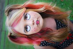 Awesome Halloween Costumes - CreativeMeInspiredYou.comhalloween, makeup, diy, costume, ideas, costume ideas, oct 31, girls, kids, tweens, face paint, spooky makeup, makeup, creepy, spooky, face, realistic,