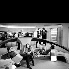 STNG (its cool to the see actors just relaxing before taping!)