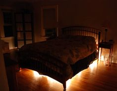 Rope lighting under the bed...perfect night light