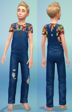 Kids overall and other clothes by bienchen83 at Sim2me via Sims 4 Updates