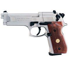 Beretta 92FS, Nickel, Wood Grips air pistol « Gun Accessories Shops