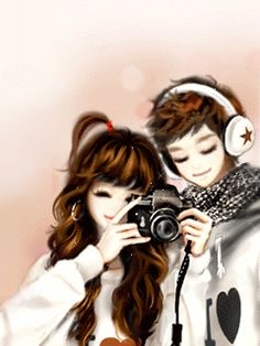 Browse more than 31 Couple pictures which was collected by Iñvïsîblē ßôỹ, and make your own Anime album. Cute Love Wallpapers, Cute Girl Wallpaper, Couple Wallpaper, Anime Korea, Korean Anime, Anime Love Couple, Couple Cartoon, Anime Couples, Cute Couples