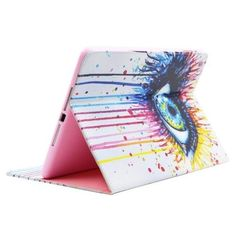 For+iPad+Air/iPad+5+Eye+Smart+Cover+Leather+case+with+Holder,+Card+Slots+&+Wallet