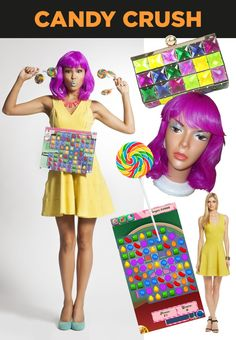 CANDY CRUSH Halloween costume.  OK, I'm sick to death of all the CC crap but this is pretty genius.
