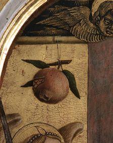 Vittore Crivelli - Sfondo, dettaglio Trittico di Monte San Martino - 1490 - Chiesa di San Martino vescovo, Monte San Martino, in provincia di Macerata.