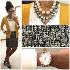 Tweed + Yellow.   Hello, Gorgeous!   Bloglovin'