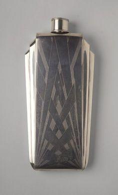 Art Déco - Flasque en Argent - 1925-1930 - The Napier Company
