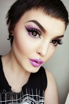Rose Shock: Dazzling purple eyes tutorial. Video included!!!!