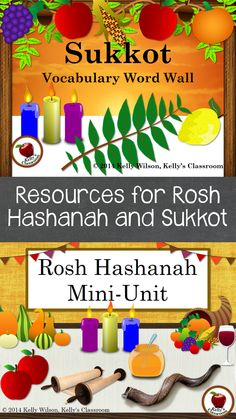 ($) Rosh Hashanah and Sukkot are two major Jewish holidays that fall in the month of Tishrei (Tishri) / September and October.  Rosh Hashanah marks the beginning of the Jewish New Year and Sukkot is often referred to as the 'Feat of Tabernacles.'  #kellysclassroom