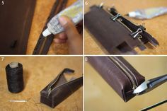 Mood DIY: Leather Pencil Case   This case can be used for tools, school supplies for kids, makeup brushes — just about anything you can think of!