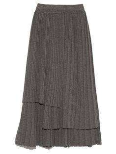 ニットプリーツスカート(膝丈スカート)|FRAY I.D(フレイアイディー)|ファッション通販|ウサギオンライン公式通販サイト