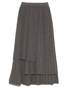 ニットプリーツスカート(膝丈スカート) FRAY I.D(フレイアイディー) ファッション通販 ウサギオンライン公式通販サイト
