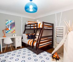 Such a fun room, loving the clean modern style.Credit to Baiyina Hughley Interior Design... - Home Decor For Kids And Interior Design Ideas for Children, Toddler Room Ideas For Boys And Girls