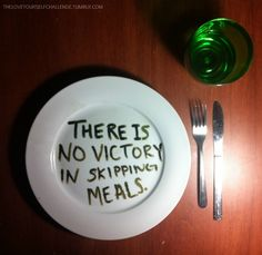 Making portions a bit smaller rather than skipping a meal is a better choice!