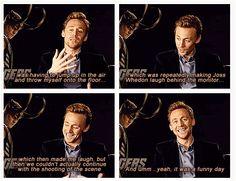 Tom was making Joss Whedon laugh