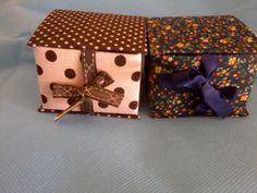 Caixa tetra pack forrada em tecido 100% algodão para embalar pão de mel, bem casado...ótima idéia para lembrancinha.