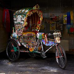 Want to own your own rickshaw? This rickshaw is handmade, handpainted and one of 20. #CRAFTbyWorldMarket