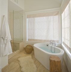 """Flooring is from Dal Tile.  Its the """"roman vein cut travertine""""."""
