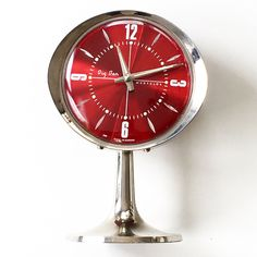 The perfect red retro clock to keep you on time and lookin' fine! Discover more vintage finds like this at whattheseoldthings.com and whattheseoldthings.etsy.com!  #vintagedecor #vintagedesign #vintagedesign #styleinspo #vintagedecorinspo #red #retroclock #vintageclock Vintage Decor, Vintage Designs, Retro Clock, Radios, Clocks, Cameras, Red, Etsy, Inspiration