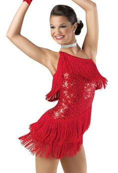 Weissman® | One-Shoulder Sequin Fringe Dress