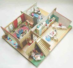 4 Stück Puppenhaus Puppenstube 1:12 Weiße Handtücher