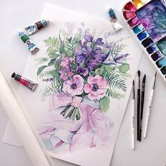 🎨 Watercolorist: @kadantsevanatalia  #waterblog #акварель #aquarelle #painting #drawing #art #artist #artwork #painting #illustration #watercolor #aquarela