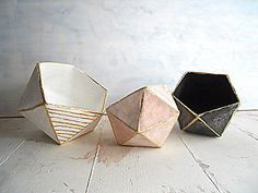 graphandcompass: geometric bowls - origami bowls - mache'art - by Djaliforyou (78.00 EUR) http://ift.tt/1n0eVSR