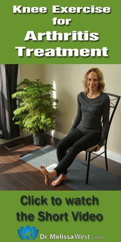 Exercise for arthritic knee, using Yoga and a Chair