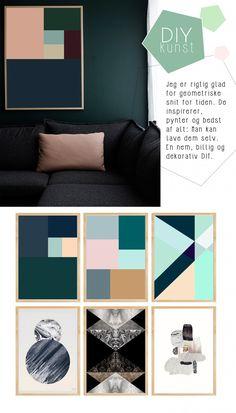 DIY: Lav dine egne geometriske plakater
