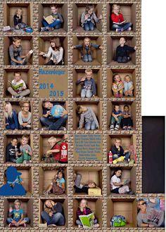 Leuke manier om je groep op de foto te zetten....ze verzonnen zelf de leukste uitbeeldingen samen....
