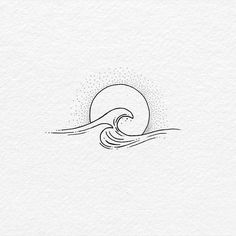 Body – Tattoo's – 60 of The Best Wave Tattoo Designs Mini Tattoos, Body Art Tattoos, Small Tattoos, Beach Tattoos, Small Beach Tattoo, Ocean Wave Tattoos, Beach Inspired Tattoos, Drawing Tattoos, Hot Tattoos