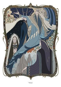 Valar [Eälindalë by wavesheep] Manwe Varda Mandos Nienna Middle Earth Books, History Of Middle Earth, Tolkien Books, Jrr Tolkien, Character Inspiration, Character Design, Fantasy Artwork, Lord Of The Rings, Lotr