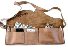 Vendor's Leather Apron Art Fair Apron Craft MXS  by WoodBoneAndStone @$50.00.