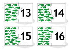 Aprenda Contar Las Cartas Rompecabezas 2part Para Cortar Y Jugar Tritones De…