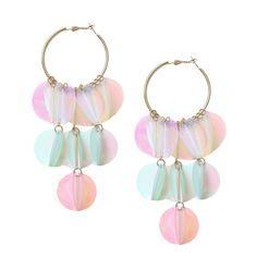 Maximalist Earrings for Your Inner Gucci Girl. Topshop: Sequin hoop drop earring