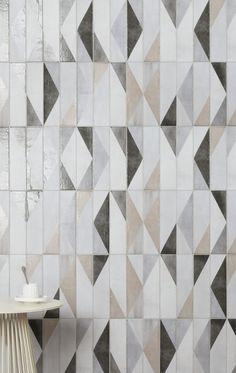 Oblique Latte Mix Decor Porcelain Tiles   Mandarin Stone