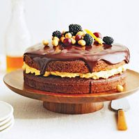 We love how this Chocolate Harvest Cake proves you don't have to be a professional #cake decorator to make a beautiful #cake. @Better Homes and Gardens