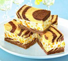 Tigerschnitten Rezept: Ein sahniger Kuchen mit Pfirsichen und Ricotta für die Kaffeetafel - Eins von 5.000 leckeren, gelingsicheren Rezepten von Dr. Oetker!